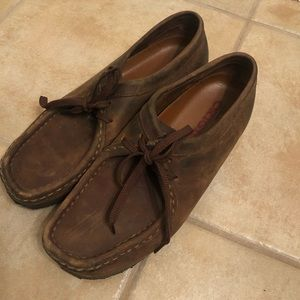 Clark's Wallabees - Women's Brown Leather